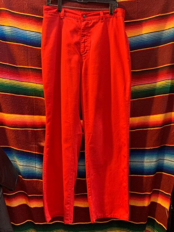 product details: THIN BRIGHT RED WOMENS PANTS photo