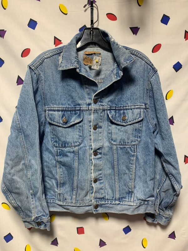product details: PERFECTLY BROKEN IN DENIM JACKET AS-IS photo