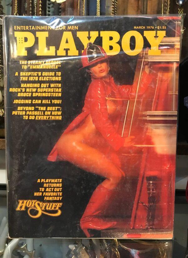 product details: PLAYBOY MAGAZINE – MAR 1976 EMMANUELLE   BRUCE SPRINGSTEEN   HOT STUFF photo
