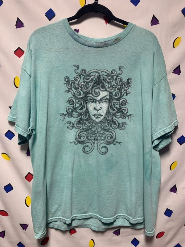 product details: RAD MEDUSA WITH SNAKES ILLUSTRATION PRINT TSHIRT AS-IS photo
