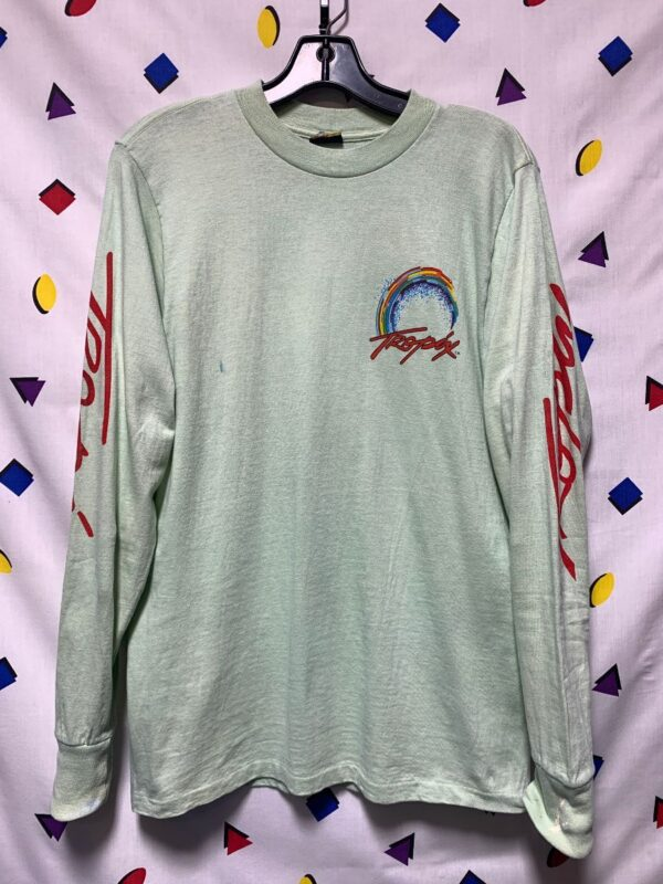 product details: DEADSTOCK LONG SLEEVE TROPIX SURFER ON WAVE GRAPHIC LONG SLEEVE TSHIRT photo