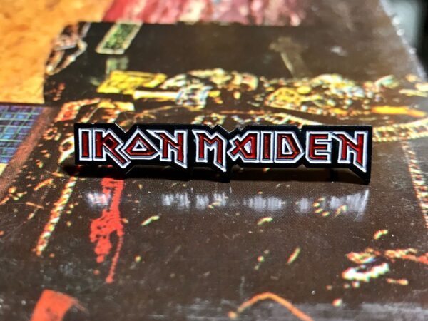 product details: NEW PIN - IRON MAIDEN LOGO photo