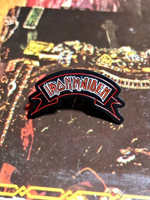 product details: NEW PIN - IRON MAIDEN BANNER photo