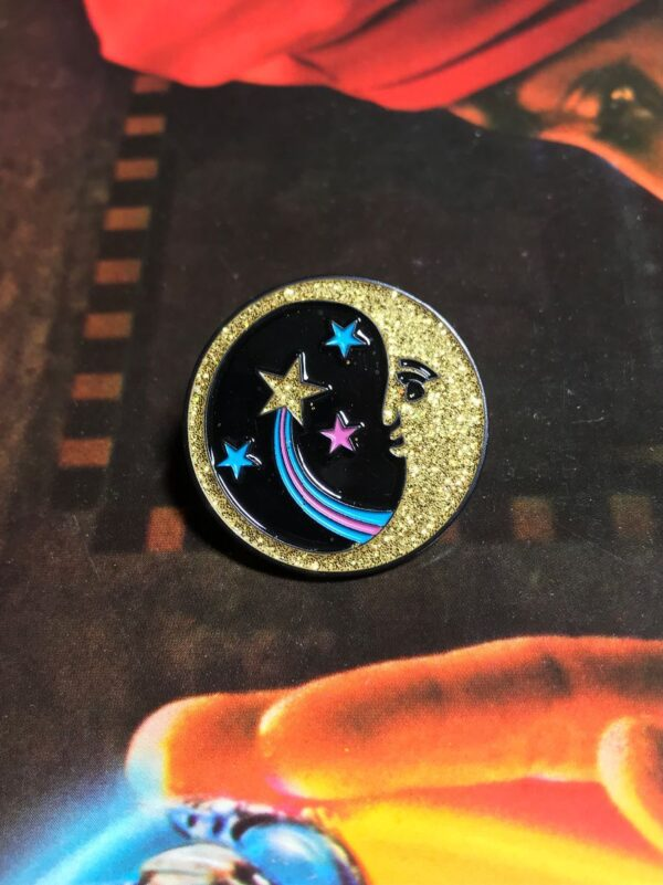 product details: NEW PIN - MOON STAR GLITTER photo