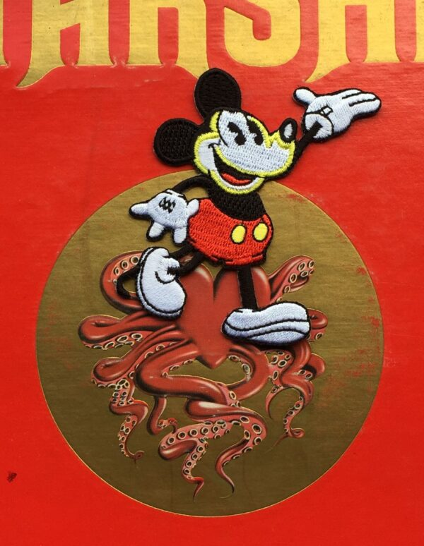 product details: MICKEY MOUSE WALKING EMBROIDRED PATCH photo
