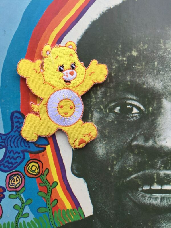 product details: CARE BEARS YELLOW FUNSHINE BEAR EMBROIDERED PATCH photo