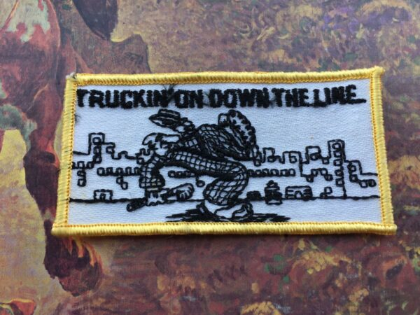product details: TRUCKIN ON DOWN THE LINE GRATEFUL DEAD EMBROIDERED PATCH photo