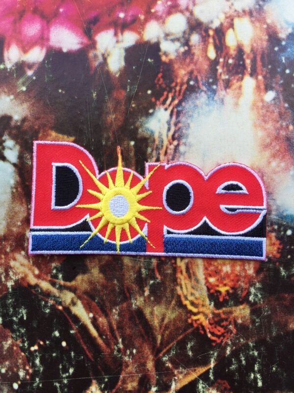 product details: DOPE SUNBURST DOLE CANNERY LOGO STYLE  EMBROIDERED PATCH photo