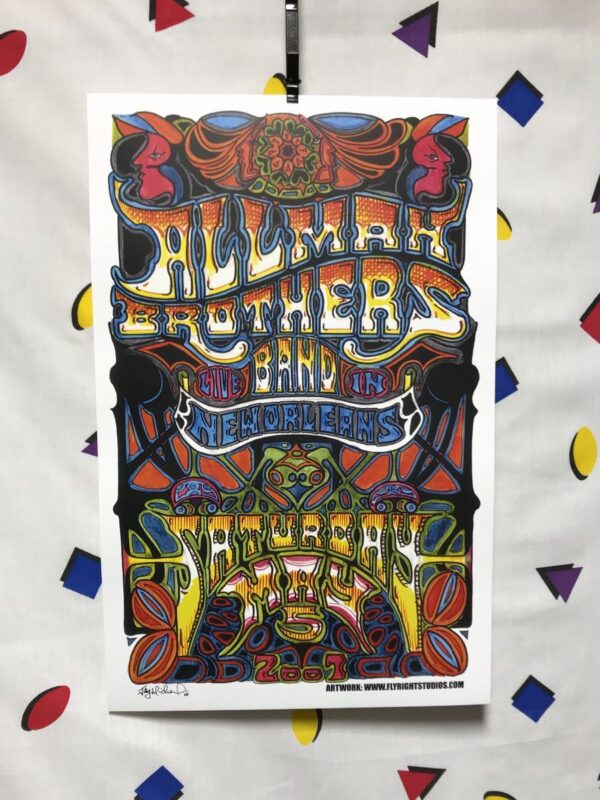 product details: ALLMAN BROTHERS BAND NEW ORLEANS 2007 CONCERT POSTER photo