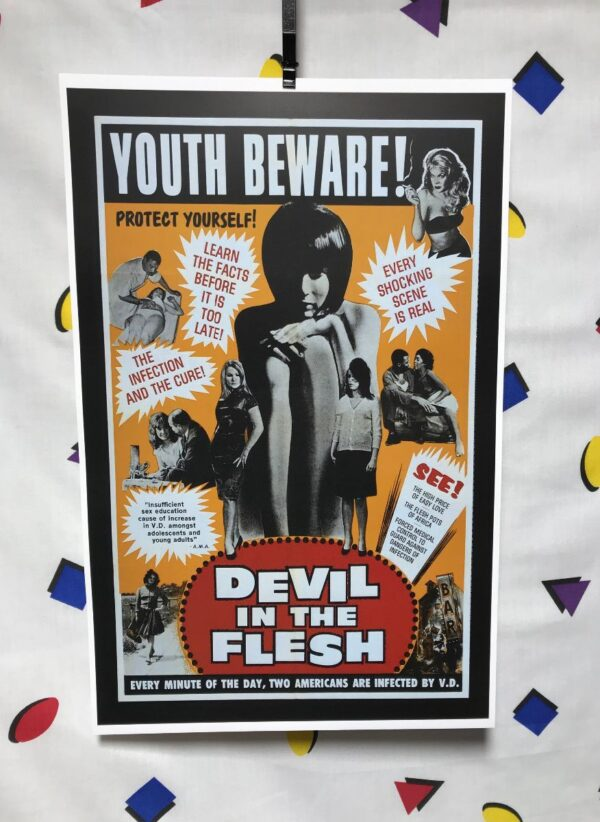product details: DEVIL IN THE FLESH 1947 YOUTH BEWARE MOVIE POSTER photo