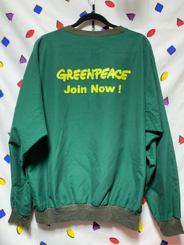 product details: SOFT AND THIN GREENPEACE PULLOVER OUTERWEAR WEATHER RESISTANT JACKET photo