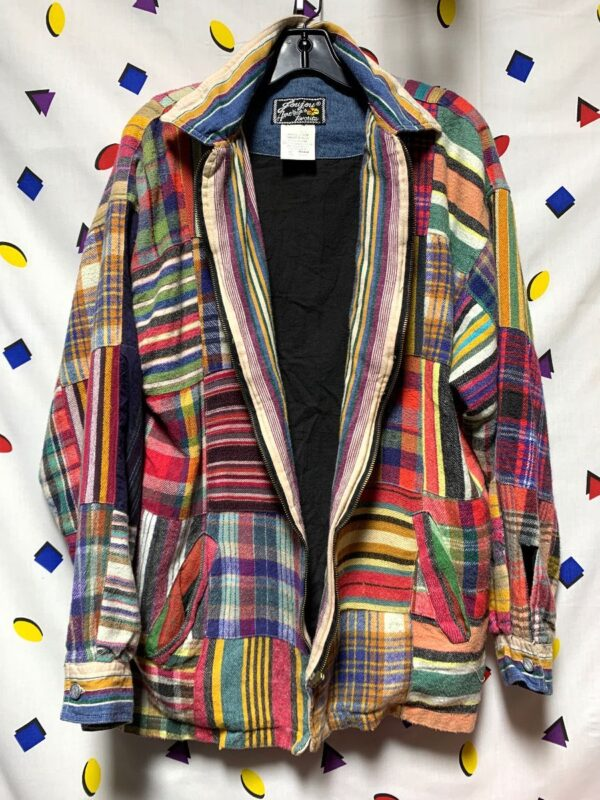 product details: VINTAGE PATCHWORK ZIP UP JACKET 100 PERCENT COTTON photo