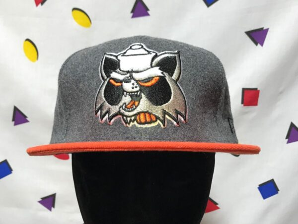 product details: ANGRY TRASH PANDA RACCOON LOGO FITTED CAP photo