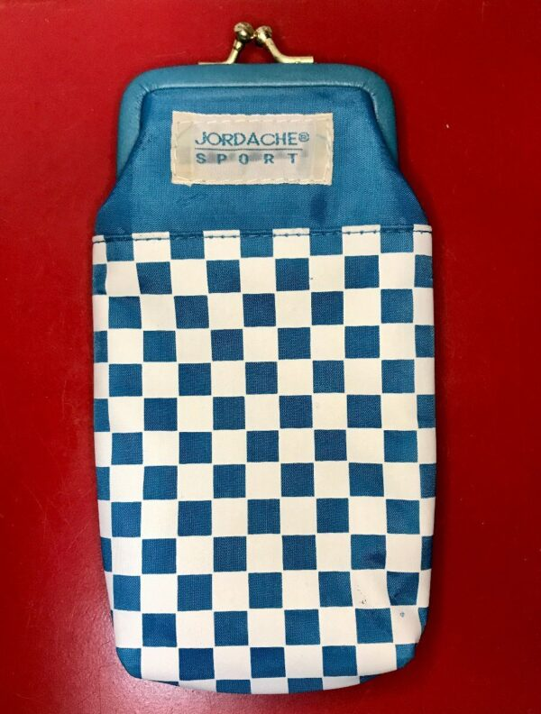 product details: VINTAGE 90S CHECKERED CIGARETTE POUCH CLASP SUNGLASS CASE photo