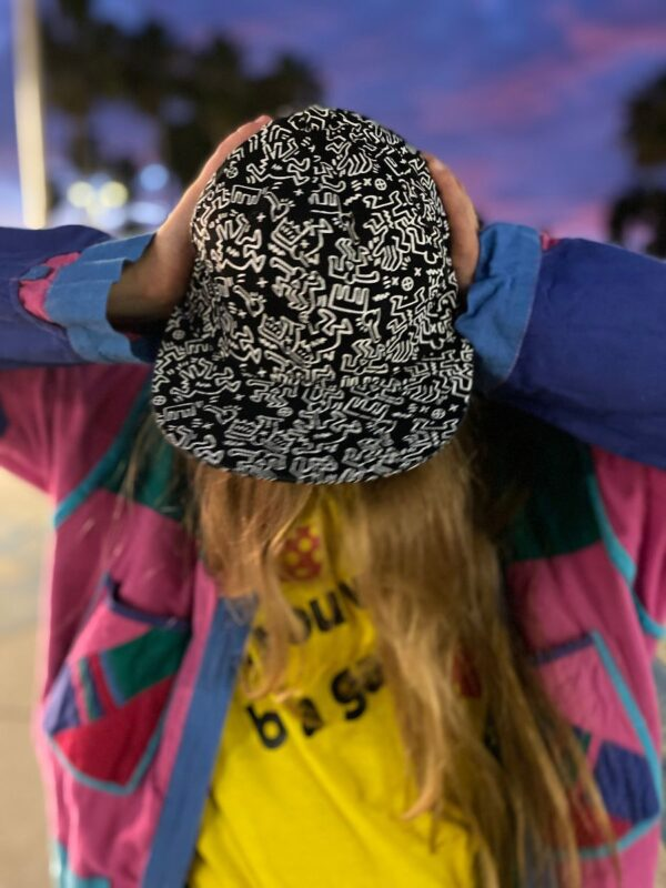 product details: KEITH HARING ALL OVER PRINT HAT 5 PANEL HAT photo