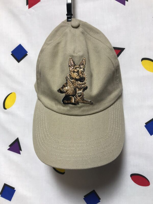 product details: EMBROIDERED GERMAN SHEPHERD DAD HAT WITH SLIDE CLOSURE photo