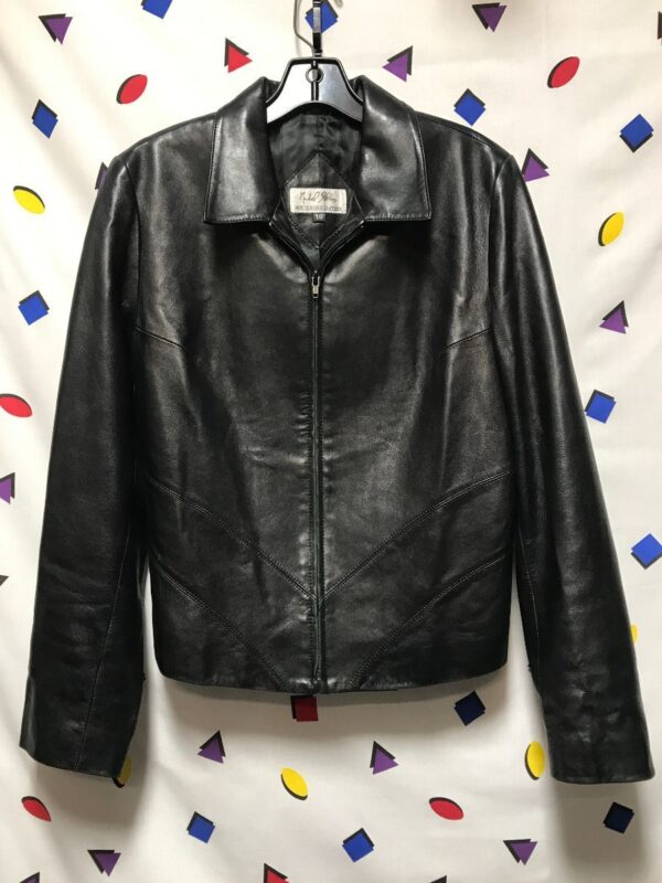 product details: NORTH BEACH LEATHER ZIPUP SATIN LINED JACKET photo