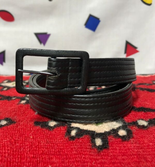 product details: PLEATHER BELT ALL OVER STITCH photo