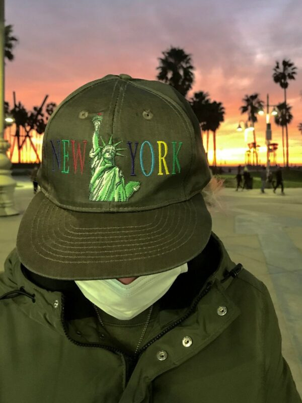 product details: STATUE OF LIBERTY NEW YORK COLOR TEXT FADED SNAPBACK DAD HAT photo
