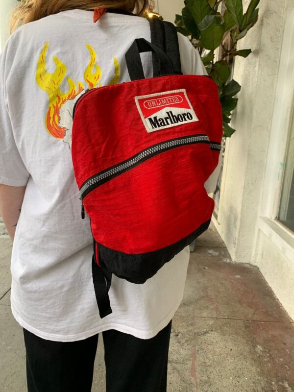 product details: 1990S MARLBORO UNLIMITED BACKPACK WITH FRONTAL ZIP AND BACK POCKET photo