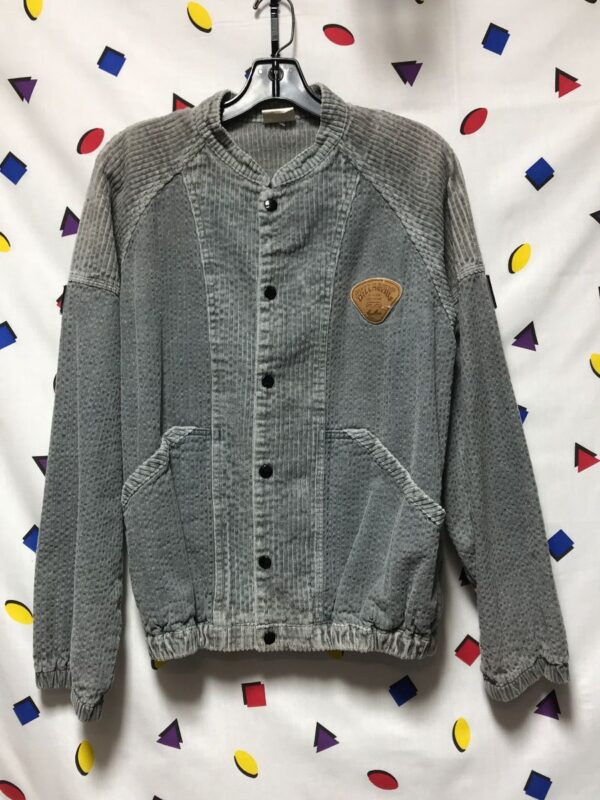product details: RARE 1980S-90S CORDUROY SNAP FRONT JACKET WITH CINCH WAIST AND POCKETS photo