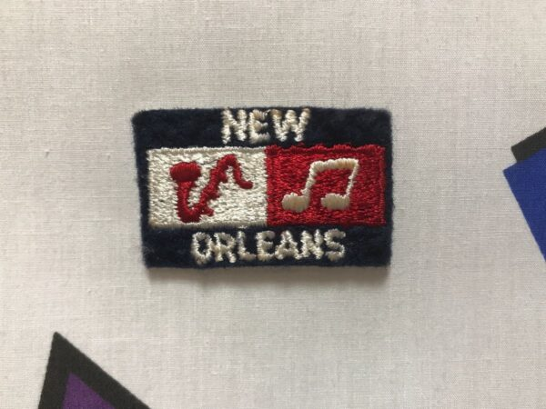 product details: MUSICAL INSTRUMENT NOTE NEW ORLEANS PATCH *OLD STOCK photo
