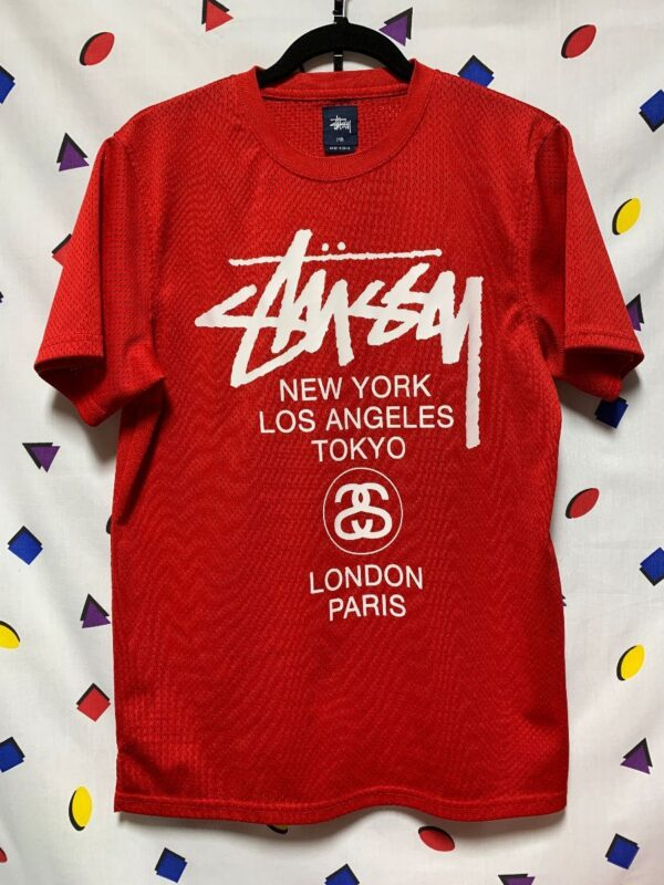 product details: STUSSY MESH PULLOVER JERSEY SCREEN PRINTED LOGO photo