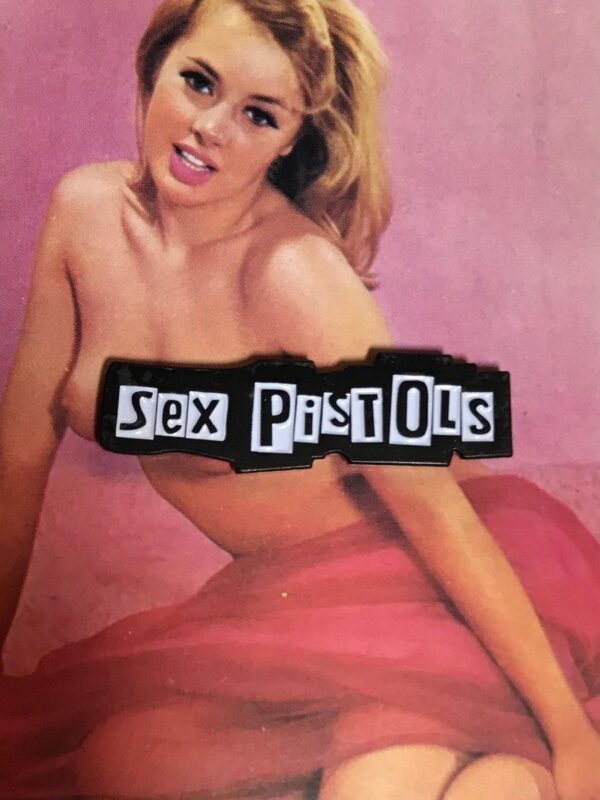 product details: NEW PIN - SEX PISTOLS LETTERING photo