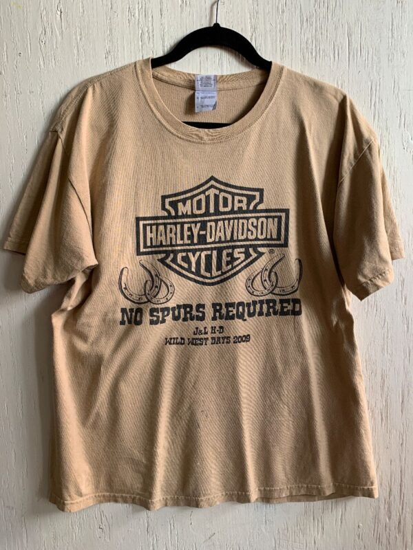 product details: HARLEY DAVIDSON \NO SPURS REQUIRED\ WILD WEST DAYS 2009 GRAPHIC T-SHIRT – AS IS photo