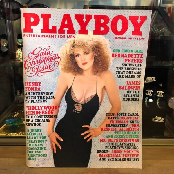 product details: PLAYBOY MAGAZINE- DECEMBER 1981- BERNADETTE PETERS photo