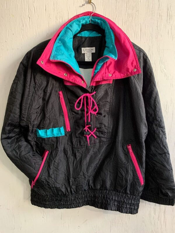 product details: FUNKY PULLOVER WINDBREAKER JACKET LACEUP FRONT photo