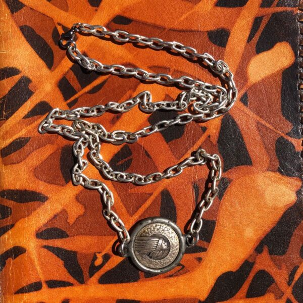 product details: NATIVE AMERICAN CHIEF MEDALLION NECKLACE CHUNKY CHAIN LINK photo