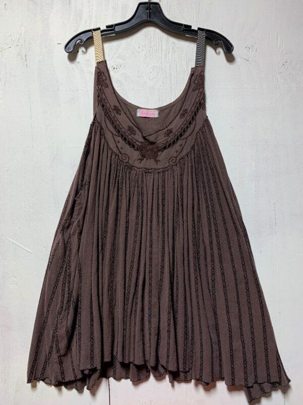 product details: LUXURY JONES FLORAL CUT-OUT SCOOP NECK TANK DRESS photo