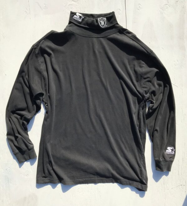 product details: COOL STARTER TURTLENECK RAIDERS LONG SLEEVE SHIRT photo
