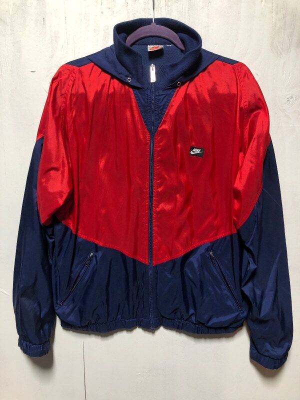 product details: RETRO NIKE COLORBLOCK WINDBREAKER W/ THERMA LINING GRAY TAG photo