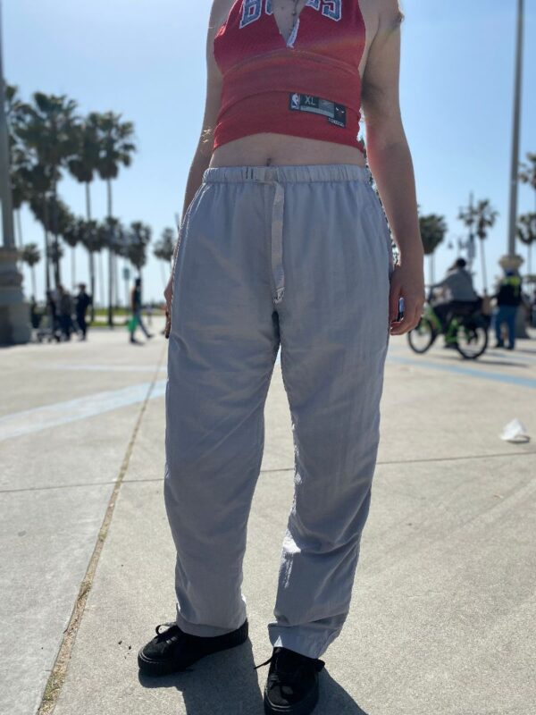 product details: 90S OUTDOOR CLIMBING HIKING NYLON BELTED PANTS photo