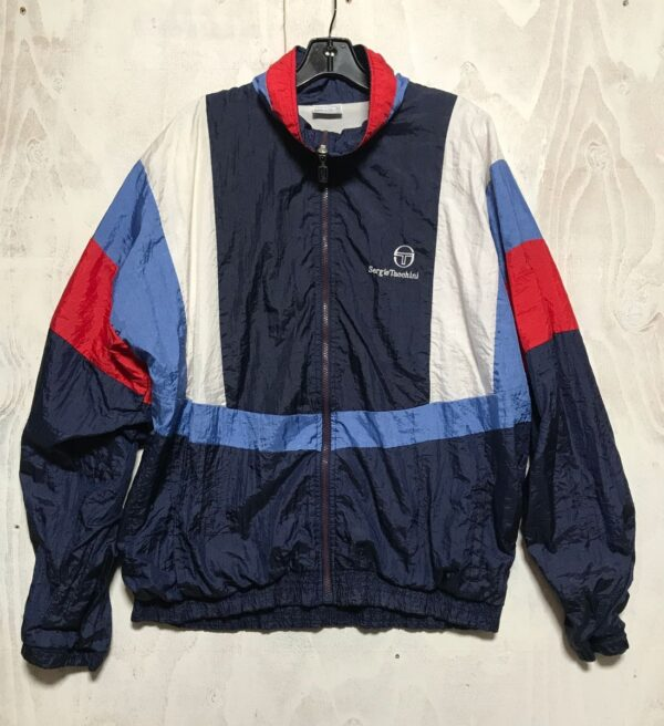 product details: COLORFUL EUROPEAN FULL ZIP FRONT WINDBREAKER JACKET WITH POCKETS photo
