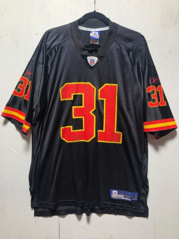 product details: NFL KANSAS CITY CHIEFS FOOTBALL JERSEY #31 HOLMES photo