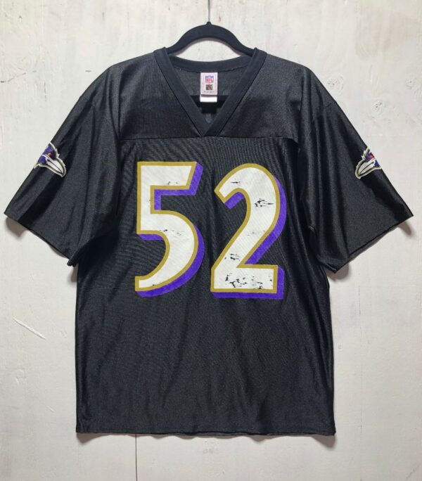 product details: NFL BALTIMORE RAVENS FOOTBALL JERSEY #52 LEWIS AS-IS photo
