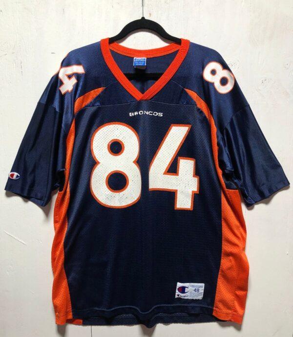 product details: NFL DENVER BRONCOS FOOTBALL JERSEY #84 SHARPE photo