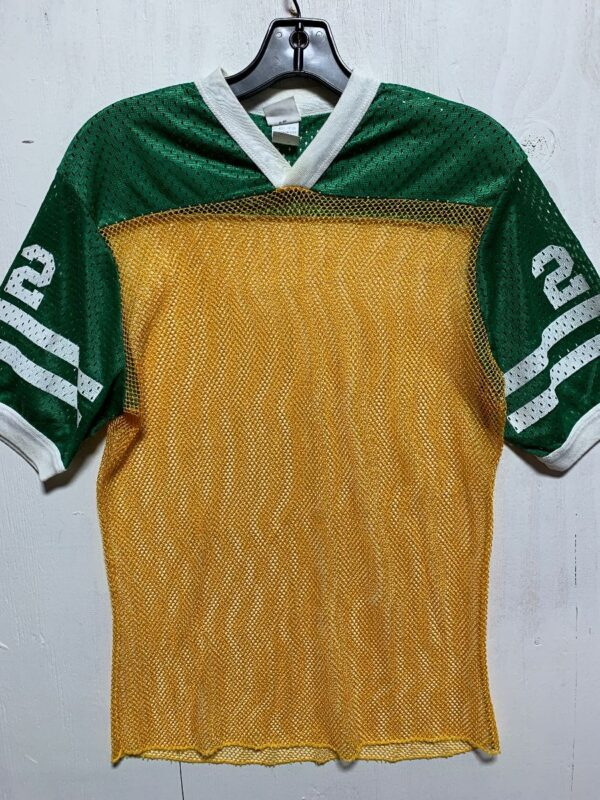 product details: RETRO TWO TONE MESH FOOTBALL JERSEY #22 photo