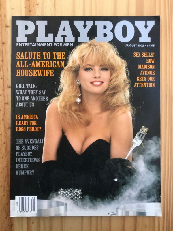 product details: PLAYBOY MAGAZINE | AUG 1992 HOUSEWIFE | ROSS PEROT | DEREK HUMPHRY | SEX IN ADVERTISING photo