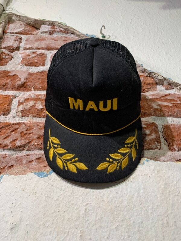 product details: EMBROIDERED MAUI SNAPBACK MESH TRUCKER HAT photo