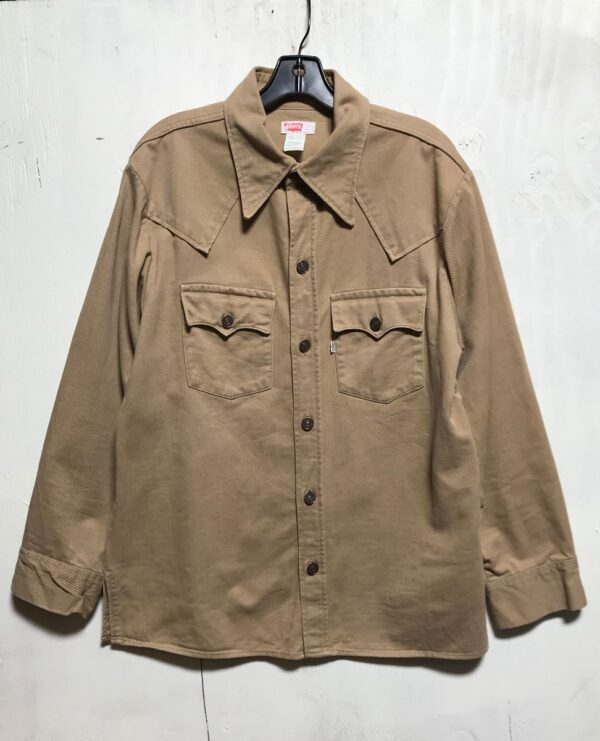 product details: BEAUTIFUL BRUSHED TWILL LEVIS DENIM WORKWEAR SHIRT LIGHT WEIGHT JACKET WITH FRONT POCKETS WHITE LABEL WPL 423 photo