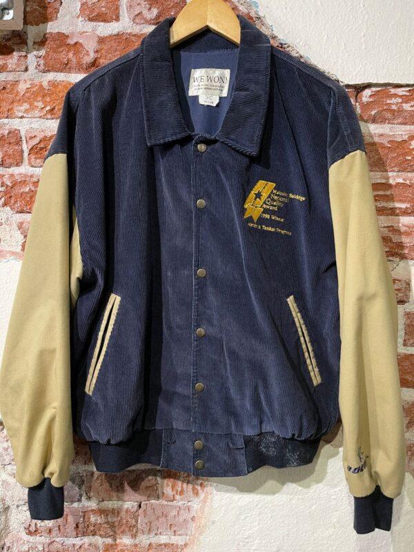product details: CORDUROY LETTERMAN STYLE JACKET MALCOM BALDRIDGE 1998 WINNER AS-IS photo
