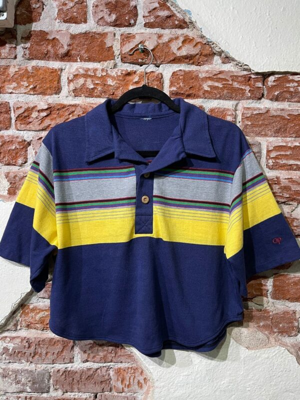 product details: SHIRT POLO PULLOVER STRIPED CROPPED photo