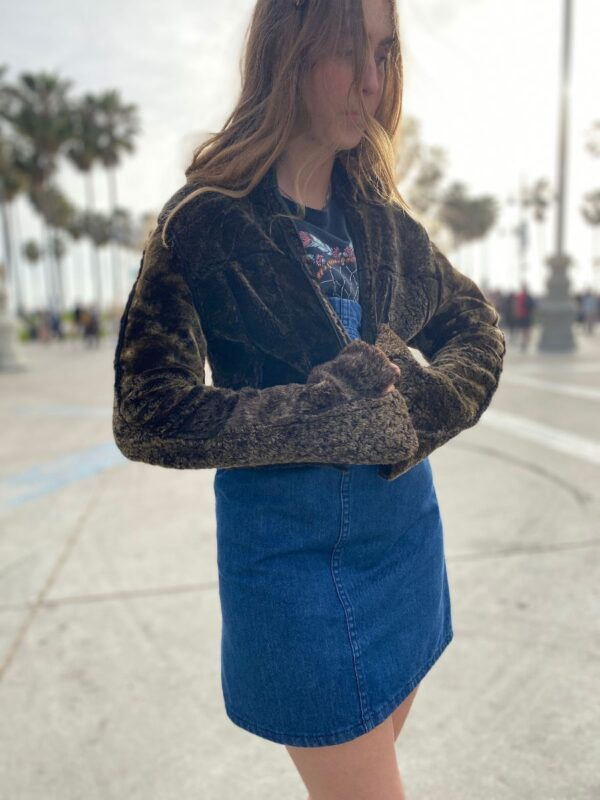 product details: LEATHER & SHEARLING PATCHWORK JACKET ZIPUP photo