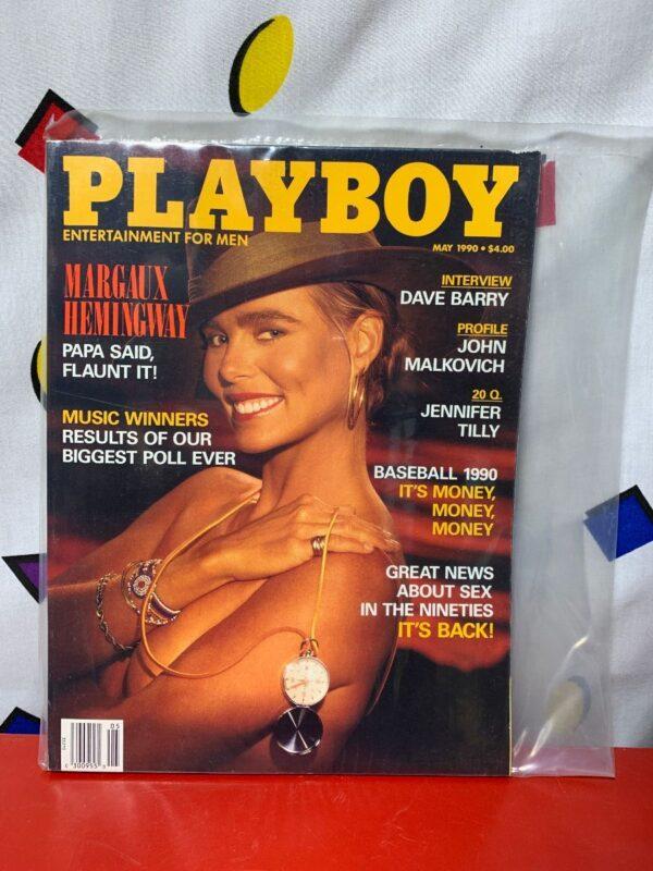 product details: PLAYBOY MAGAZINE | MAY 1990 | MARGAUX HEMINGWAY photo