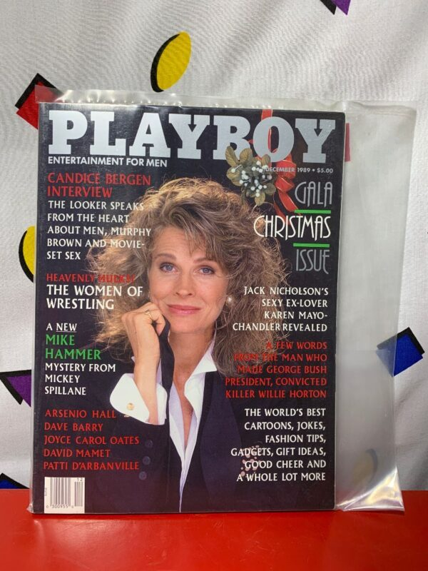 product details: PLAYBOY MAGAZINE | DECEMBER 1989 | GALA CHRISTMAS ISSUE CANDICE BERGEN photo