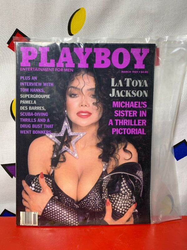 product details: PLAYBOY MAGAZINE | MARCH 1989 | LA TOYA JACKSON PICTORIAL photo